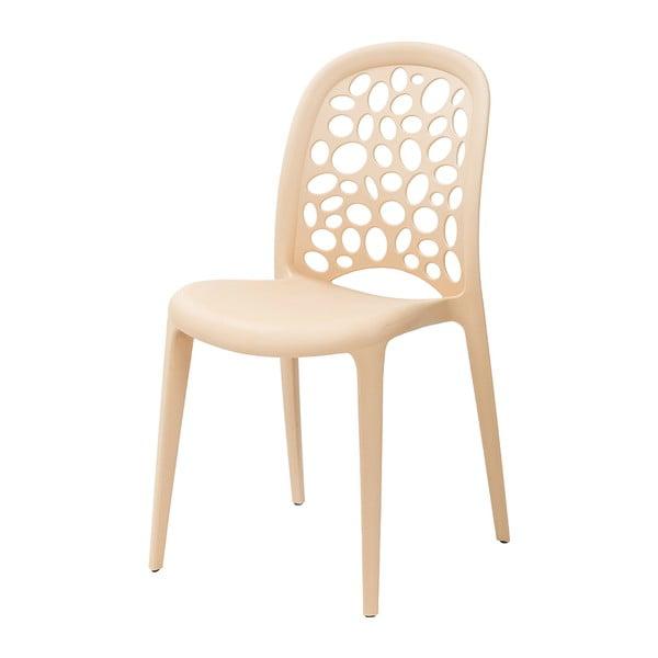 Židle Allegra, krémová