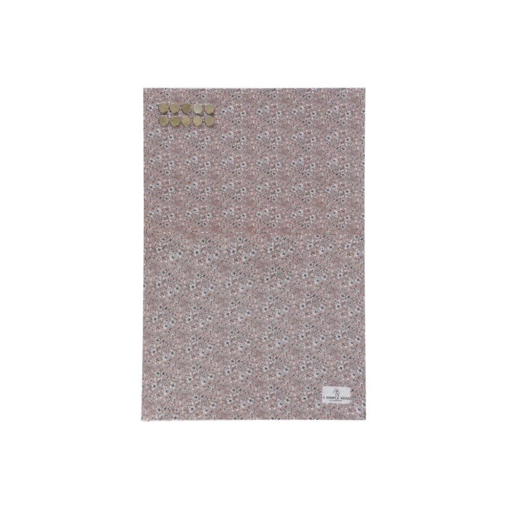 Kovová tabule na vzkazy A Simple Mess Paule Pale Mauve, 40x60cm A simple Mess