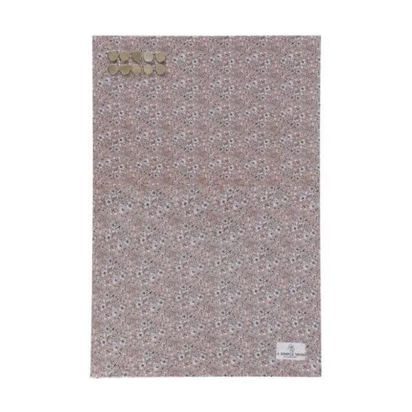 Kovová tabule na vzkazy A Simple Mess Paule Pale Mauve, 40x60cm