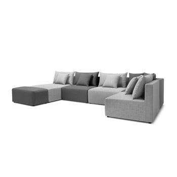 Canapea în nuanțe de gri Bobochic Paris Metis