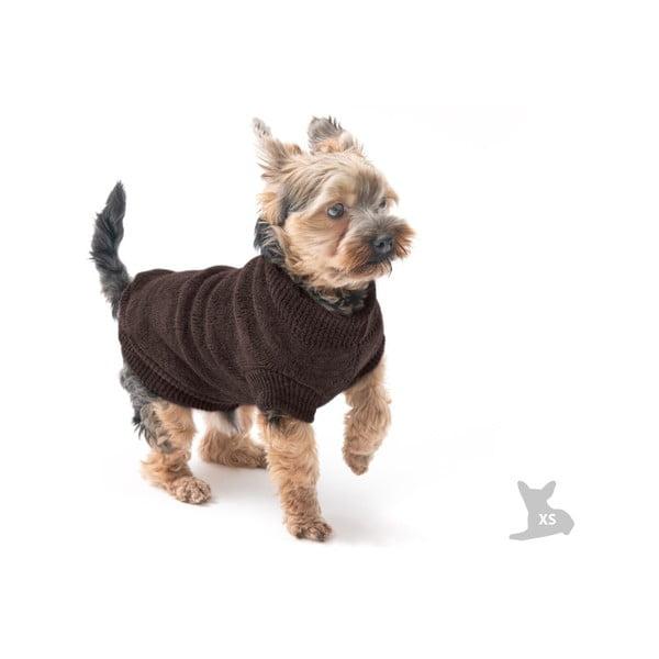Hnědý svetřík pro psy Marendog Trip, vel. XS