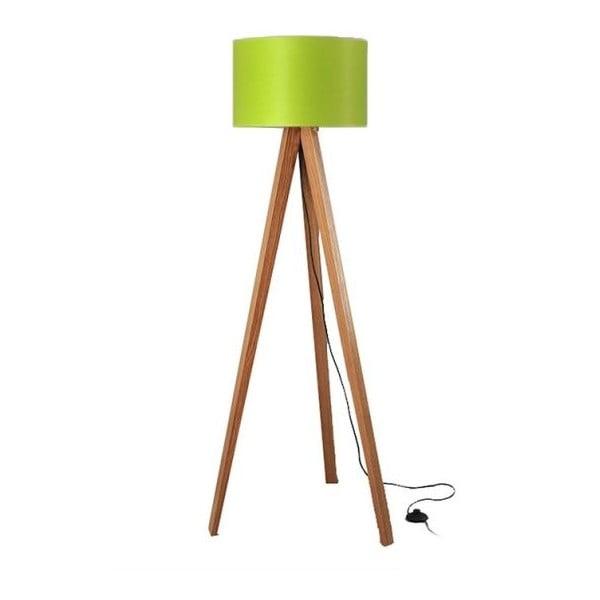 Stojací lampa Tripod Lime/Walnut