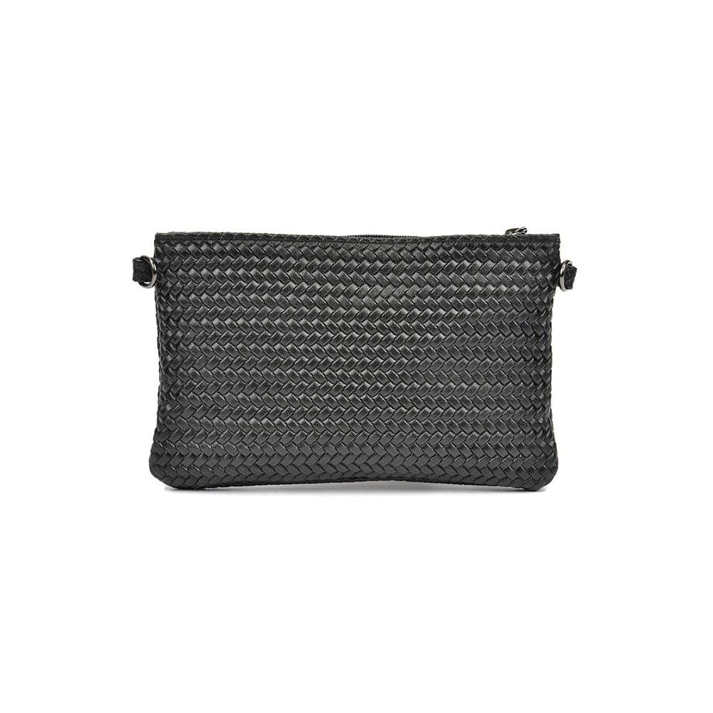 Černá kožená kabelka Mangotti Mindy