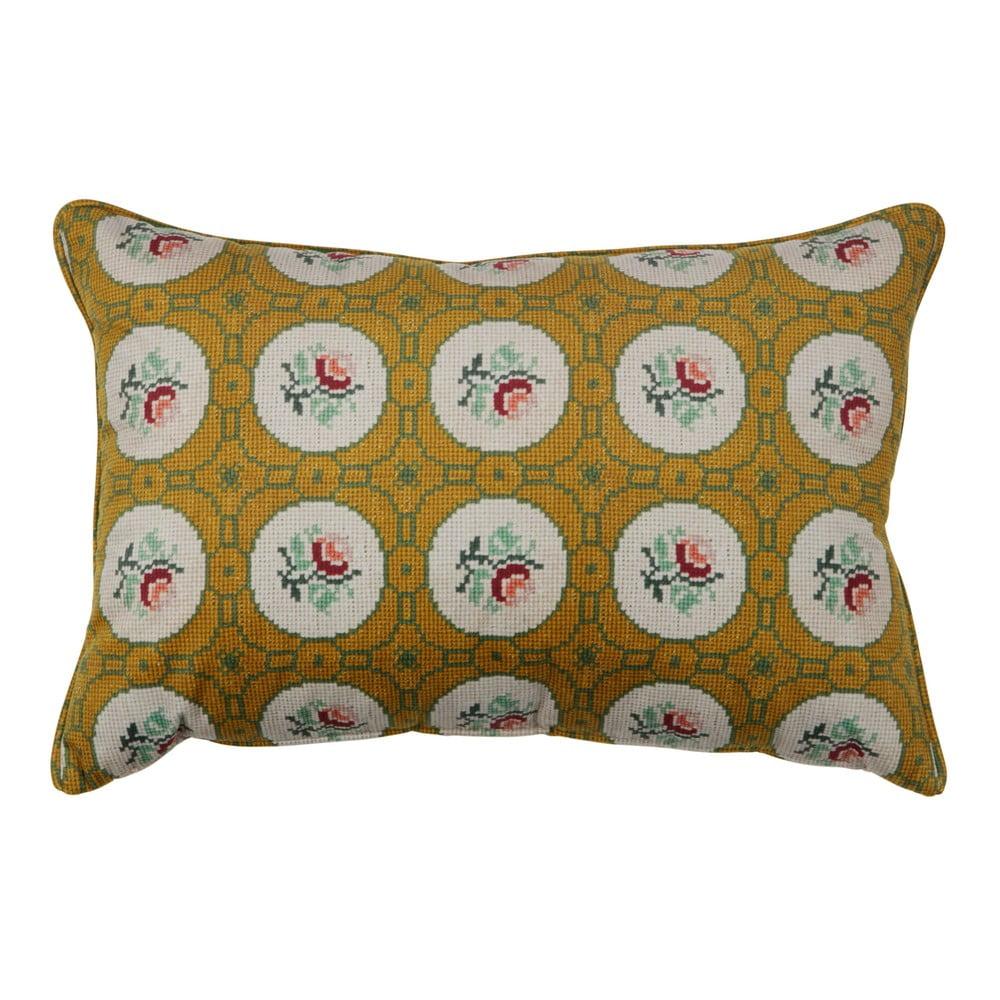 Okrově žlutý dekorativní polštář BePureHome Granny, 40 x 60 cm