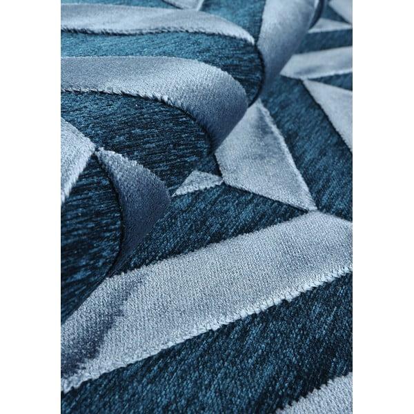 Koberec Genova no. 705, 65x210 cm, modrý