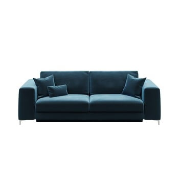 Canapea extensibilă cu 3 locuri devichy Rothe, albastru închis de la devichy