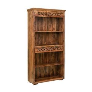 Bibliotecă din lemnde palisandru cu sertare Massive Home Rosie