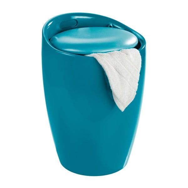 Candy Look kék szennyestartó és ülőke, 20 l - Wenko