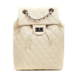 Světle béžový dámský kožený batoh Anna Luchini Magnarro