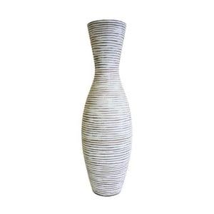 Světle hnědá váza Stardeco Stripes