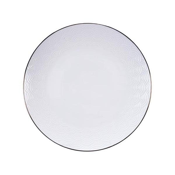 Nippon Wave fehér tányér, ø 25,5 cm - Tokyo Design Studio