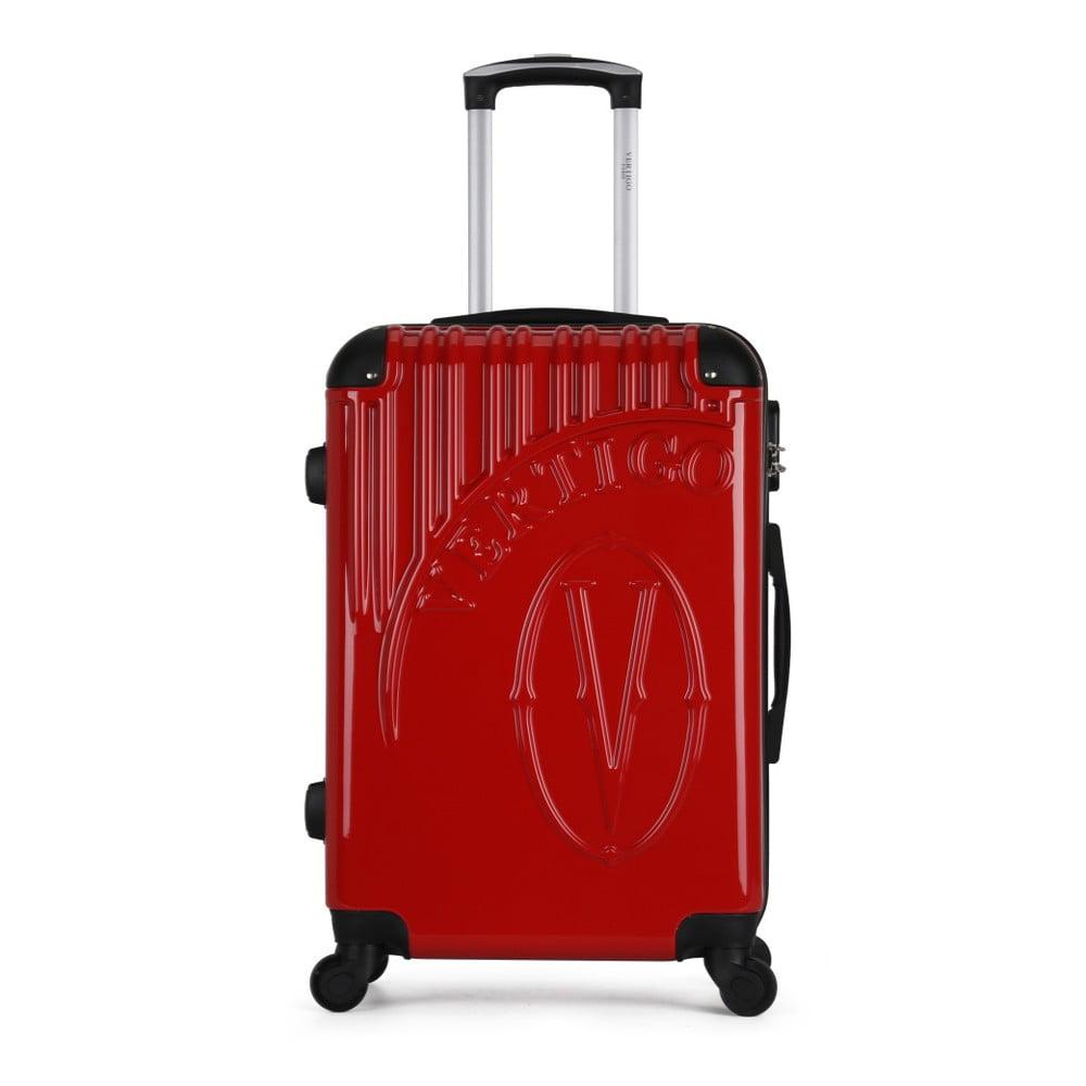 Červený cestovní kufr na kolečkách VERTIGO Valise Grand Format Duro, 47 x 72 cm