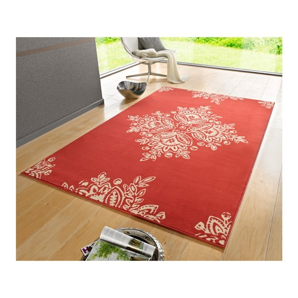 Červený koberec Hanse Home Gloria Blossom, 120 x 170 cm