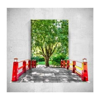 Tablou de perete 3D Mosticx Bridge To The Tree, 40 x 60 cm