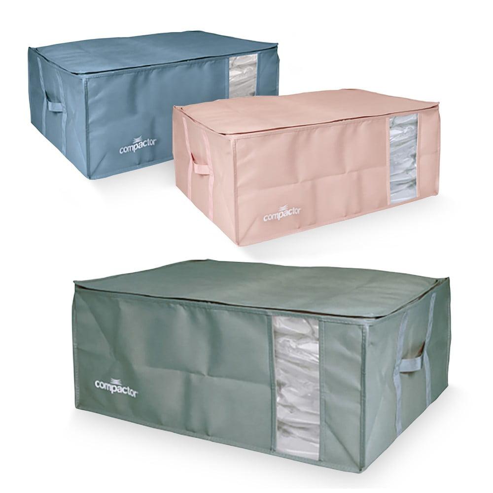Sada 3 úložných boxů s vakuovým obalem Compactor Color Edition XXL, 50 x 26,5 cm