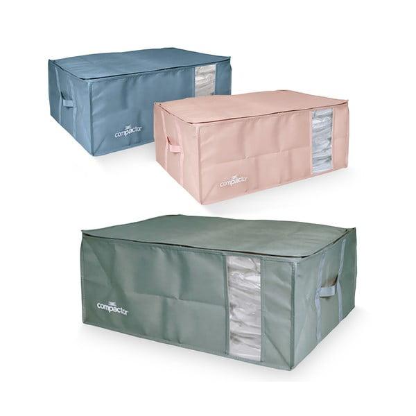 Set 3 cutii de depozitare cu vid Compactor Color Edition XXL, 50 x 26,5 cm