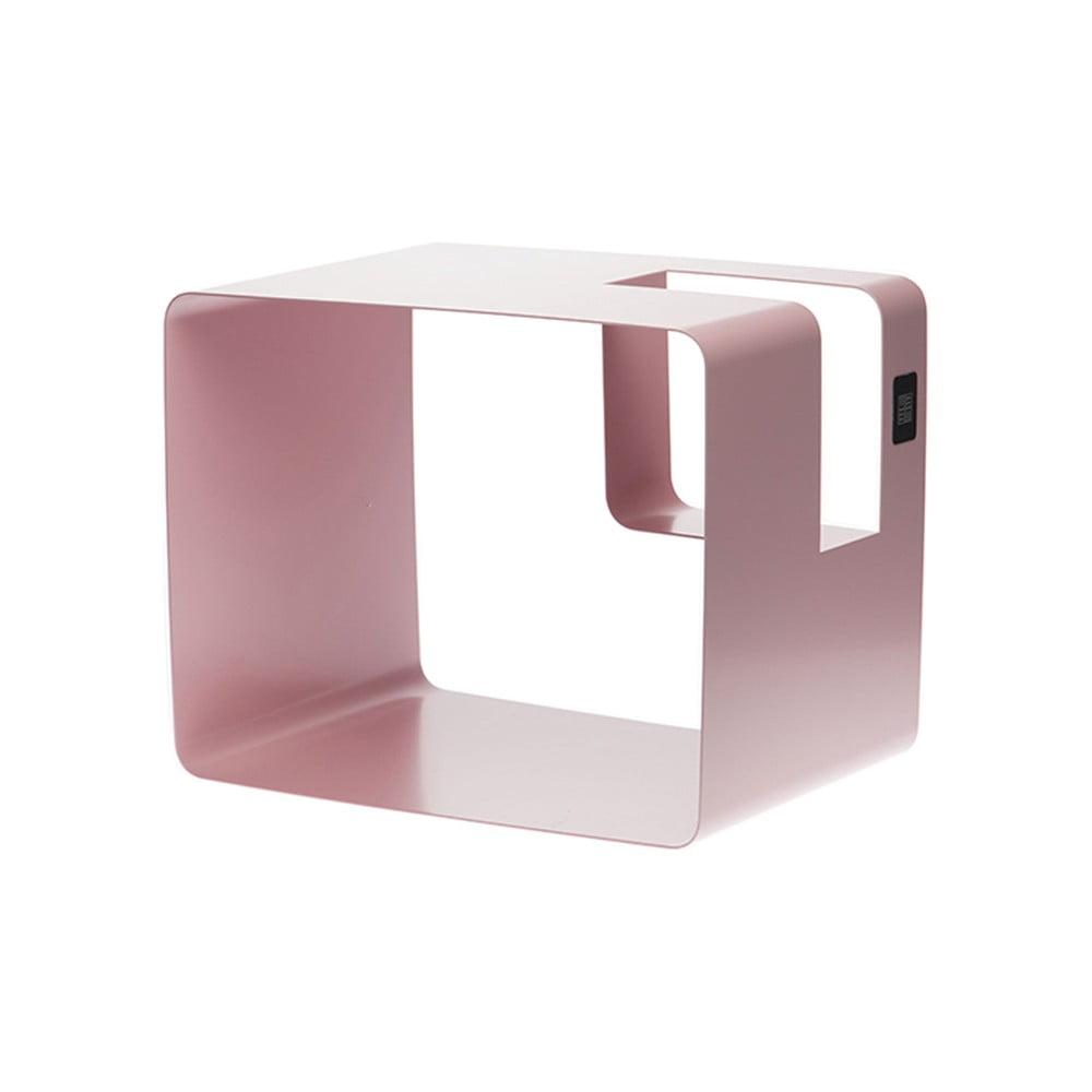 Růžový stojan na časopisy MEME Design Libris