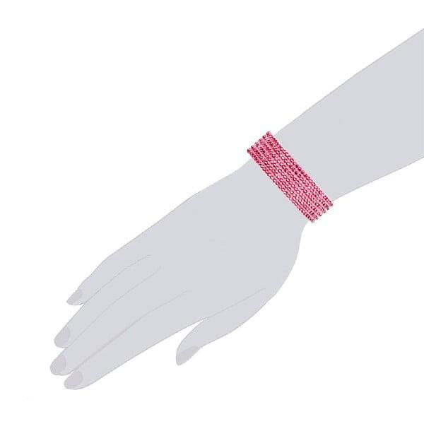 Náramek Simply Pink, 21 cm