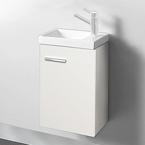 Koupelnová skříňka s umyvadlem a zrcadlem Kai, odstín bílé, 40 cm
