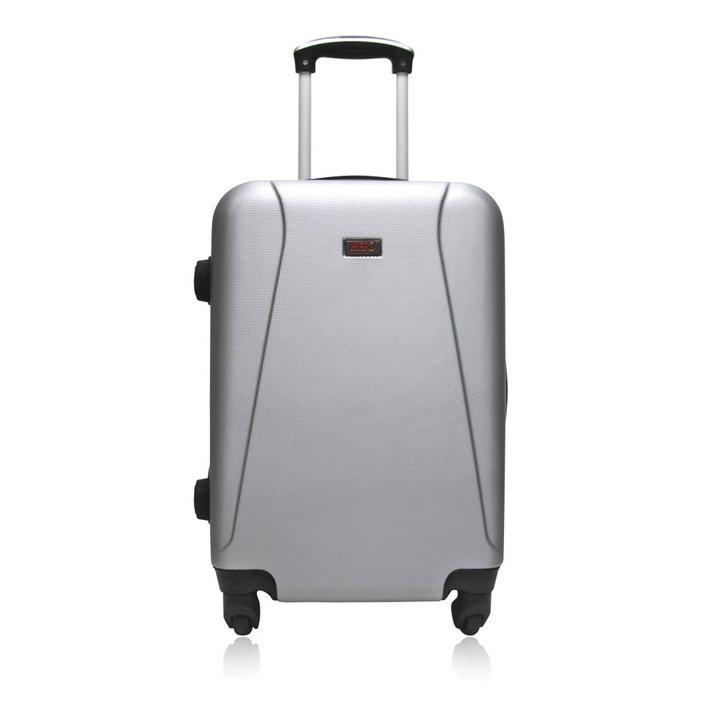 Cestovní kufr na kolečkách stříbrné barvy Hero Tour, 36 l