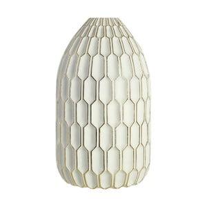 Bílá dekorativní váza Premier Living Complements Hilda