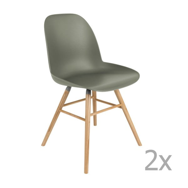 Set 2 scaune Zuiver Albert Kuip, verde