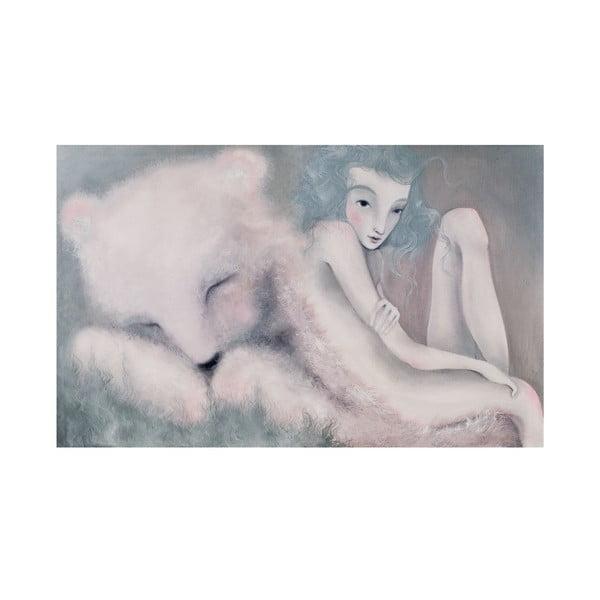 Autorský plakát od Lény Brauner Sen o medvědovi, 40x60cm