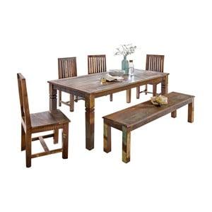 Jídelní stůl z recyklovaného mangového dřeva Skyport DELHI, 120 x 70 cm