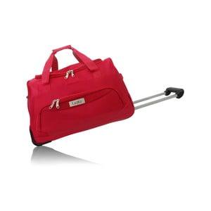 Červená cestovní taška na kolečkách Les P'tites Bombes Goteborg, 91l