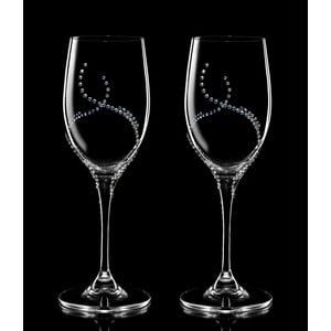 Sada 2 sklenic na víno Harmonia se Swarovski Elements v luxusním balení