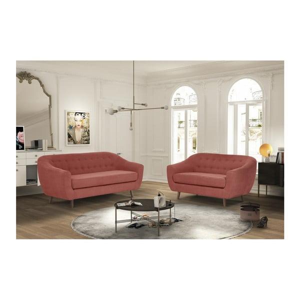 Růžovočervená dvoumístná pohovka Jalouse Maison Vicky