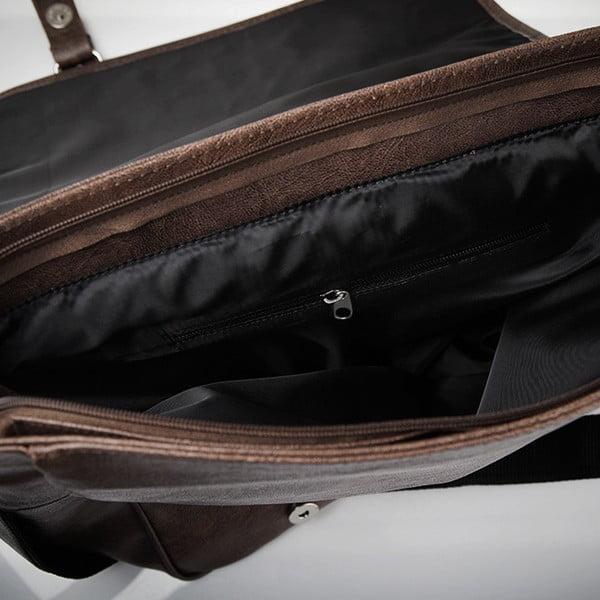 Pánská taška Solier S12, tmavě hnědá