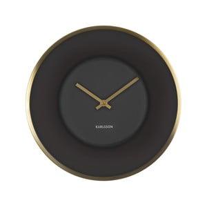 Černé hodiny Present Time Illusion