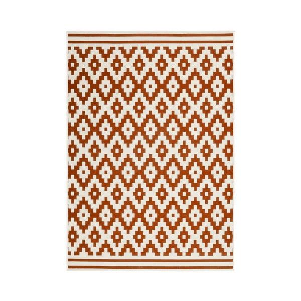 Oranžovo-bílý koberec Kayoom Stella 300, 160x230cm