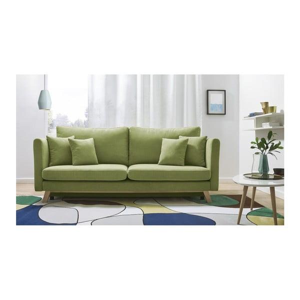 Triplo zöld háromszemélyes kinyitható kanapé - Bobochic Paris