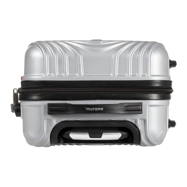 Šedý kufr na kolečkách Murano Traveller, 65 x 40 cm