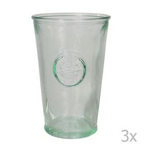 Sada 3 sklenic z recyklovaného skla EgoDekorAuthentic, 300 ml
