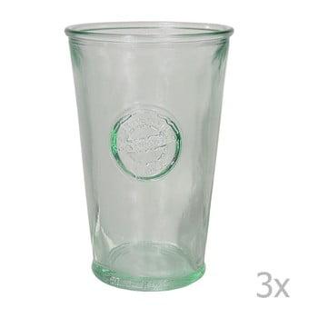Set 3 pahare din sticlă reciclată EgoDekorAuthentic, 300 ml de la Ego Dekor