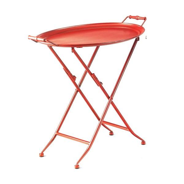 Červený stolek s tácem Novita Servetto