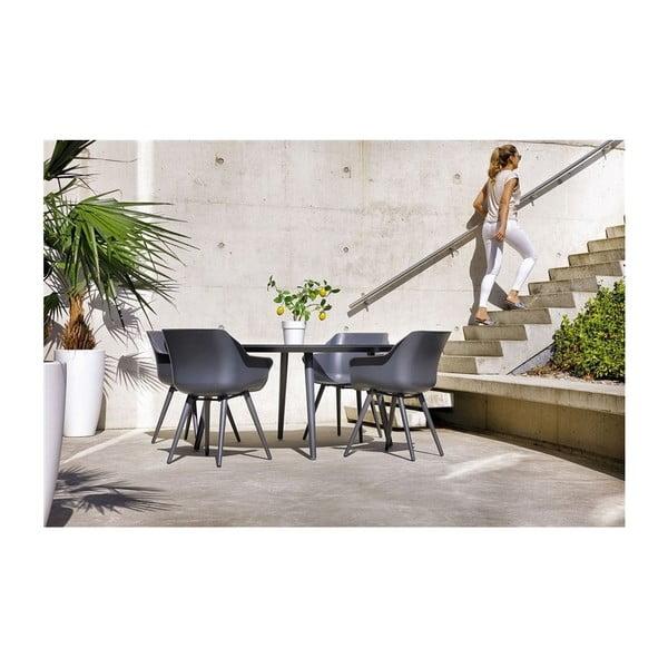 Sada 2 tmavě šedých zahradních židlí Hartman Sophie Studio