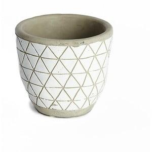 Světle šedý keramický květináč Simla Diamond, výška11cm