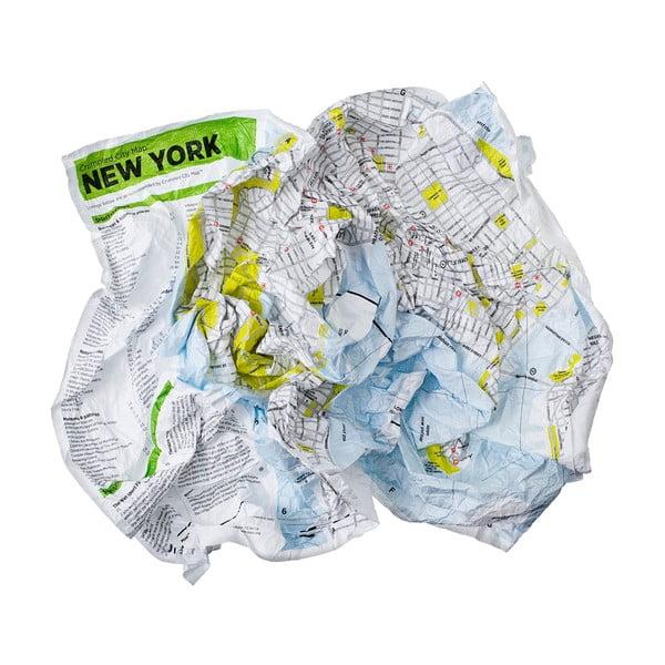 Zmačkaná cestovní mapa Palomar New York