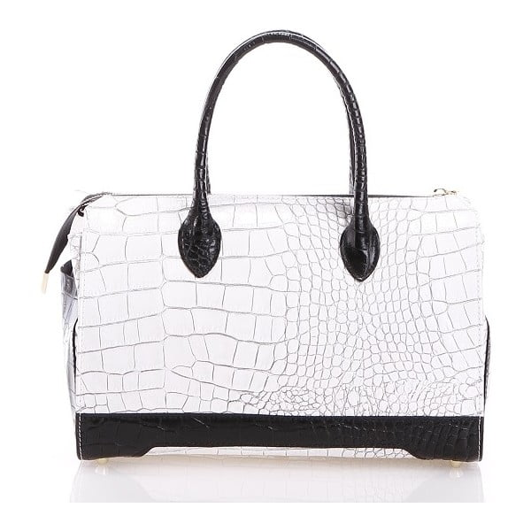 Kožená kabelka Livie, bílá