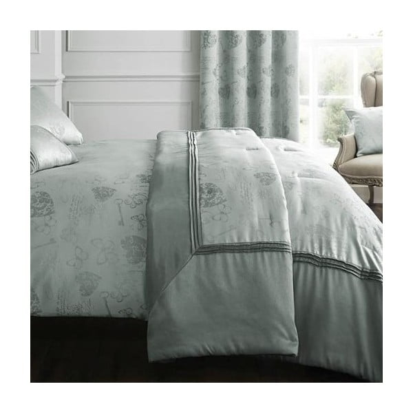 Přehoz přes postel Les Sites de Paris Duck Egg, 220x230 cm