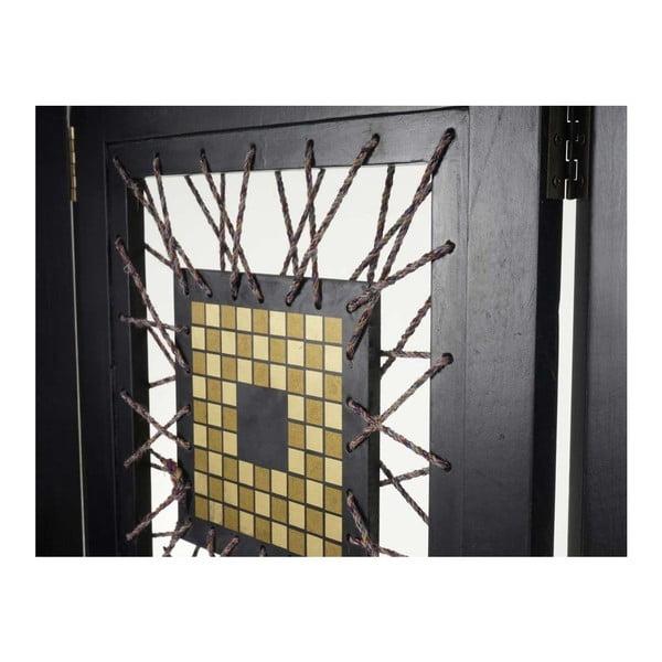 Paravan Room Ornament Black, 161x170 cm