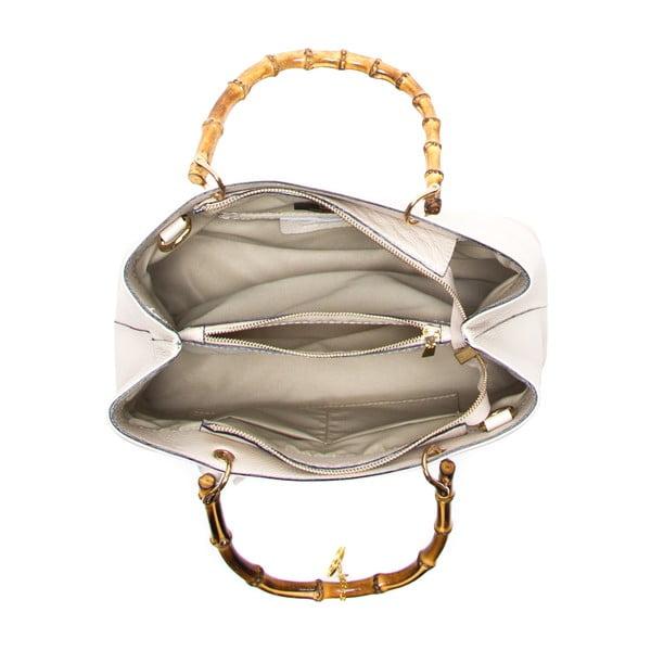 Kožená kabelka Cerla, béžová