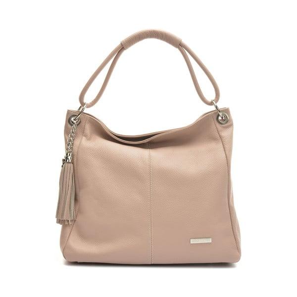 Béžová kožená kabelka Luisa Vannino Caramelo