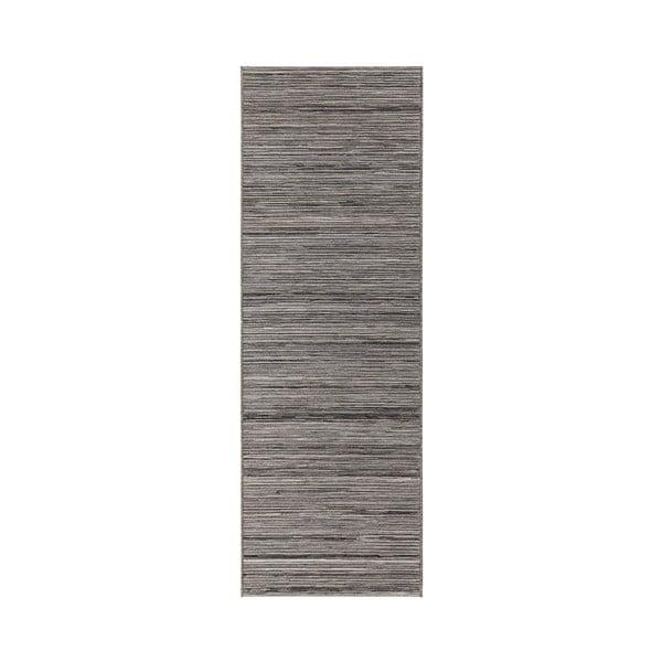 Sivý koberec vhodný aj do exteriéru Lotus, 80×240cm