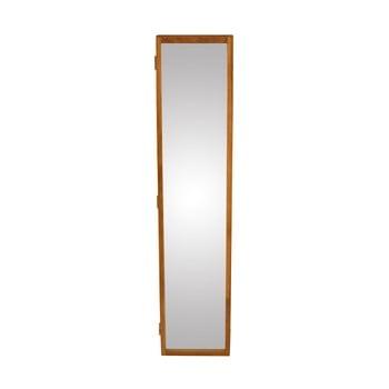 Oglindă de perete cu o cutie din lemn masiv de stejar pentru chei Canett Uno, 20x90cm imagine