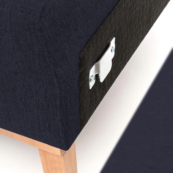 Tmavě modrá pohovka s lenoškou na pravé straně Vivonita Milton